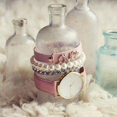 Bohemian Bangles Watch in Pink, Sweet Gold Watches & Jewelry from Spool 72. | Spool No.72