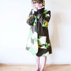 A-lined coat, size 42. eu 165€. #hoppudesign #ecoclothing #ethicalfashion #slowfashion #sustainable #sustainablefashion #retroclothing #recycledmaterials #Tampella #madeinfinland #saaratalvo