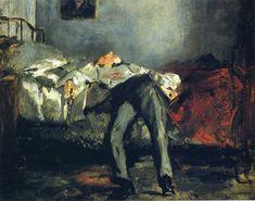 Edouard Manet — The Suicide, Edouard ManetSize: 38x46 cm Medium:...