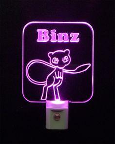 #Pokemon Mew LED Night Light #personalized #kidslight #uniqueledproducts #cleveland Unique LED Products