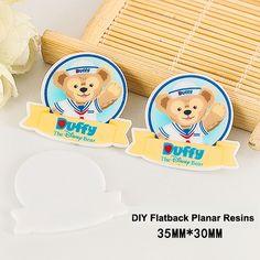 50pcs/lot Cartoon Lovely Duffy Bear Flatback Resins DIY Resin Crafts Kawaii Planar Resin for Home Decoration Accessories DL445