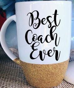 Best Coach Ever Coffee Mug Glitter Mug Statement Mug Gift for Coach Gift for Coach Cheer Latte Mug Cheerleading Gift Sports Coach Gift