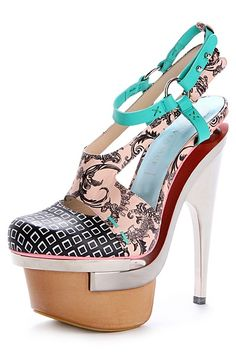 Versace baroque printed platforms | The House of Beccaria
