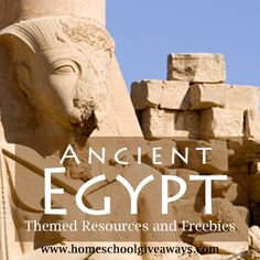 Free Ancient Egypt Themed Resources for Homeschool