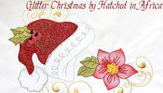 Glitter Christmas designs using GLitterFlex in embroidery - HatchedInAfrica.com | Product Details