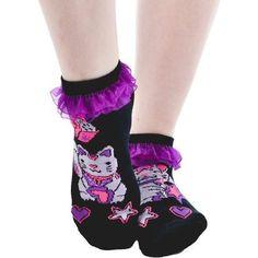 #TOOFASTSOCKS #LUCKYCAT #LUCKY #CAT #RUFFLESOCKS #ANKLESOCKS #SOCKS #Purple #Cute #Kitty #Womens #OneSize #Girls #TF #TooFast #AnkleSocks