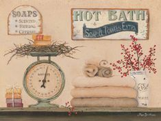 The Little Store Of Home Decor Bath House Open 24 Hours Hot Showers Soap Extra Country Bathroom Wooden Wall Art Sign Towels Berries Stars Wall Art Prints, Canvas Prints, Thing 1, Decoupage Vintage, Wooden Wall Art, Art And Technology, Bath Decor, State Art, Cool Art