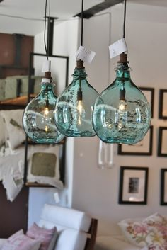 Sea glass globe lights (16,000 on 1/10/14)