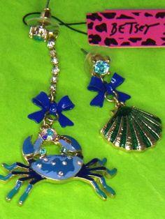 Betsy Johnson Blue Crab Dangles
