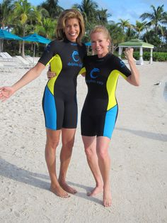 Hoda and Kathy Lee in the bahamas.  They make me laugh.