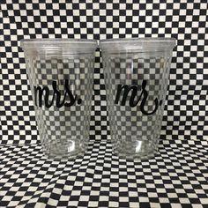 Combo de vasos para los novios #mrs #mr
