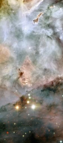 redit: NASA, ESA and Jesús Maíz Apellániz (Instituto de Astrofísica de Andalucía, Spain) WR 25 and Tr16-244, at the bottom of the image, are located within the open cluster Trumpler 16. This cluster is embedded within the Carina Nebula, an immense cauldron of gas and dust that lies approximately 7500 light-years from Earth in the constellation of Carina, the Keel.