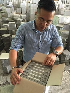 Every piece must be checked carefully before packing. #Encaustic handmade cement tile , #Saigon tiles, #Hanoi cement tile , #traditional cement tiles , #vietnam cement tile, #floor cement tile, #walling tile, indoor tiles, kitchen tiles, #hydraulic cement tiles , patterned tiles, #pressed cement tiles , #morocco tile
