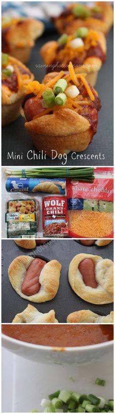Mini Chili Dog Crescents - SO YUMMY!
