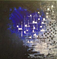 Mad Poppy Art (©2014 artmajeur.com/marie-agnes-lambert) Jeu entre le jour et la nuit, le clair et l'obscure, le coeur et la raison...  PS: Je n'encadre pas les tableaux, je peins la tranche de façon à laisser le maximum d'impact sur le mur.