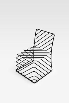 Thin black lines chair | Nendo