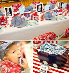 I think we're going to do a train themed party - All Aboard! Thomas Birthday Parties, Thomas The Train Birthday Party, Trains Birthday Party, Birthday Fun, Birthday Party Themes, Birthday Ideas, Car Party, Third Birthday, Kids Party Themes