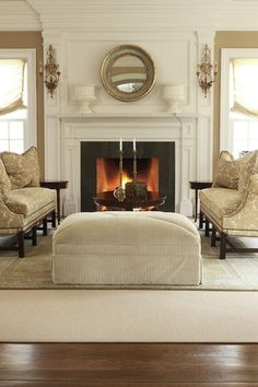 Fireplaces fireplace surrounds and stone fireplace - Beautiful living rooms with fireplace ...