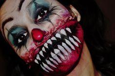 Scary Clown Makeup - halloween - makeup - creepy - sfx makeup - ohsojess - Jessica Rembish