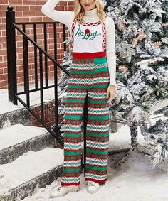 Loving this Green Geometric Holly Jumpsuit - Women on #zulily! #zulilyfinds