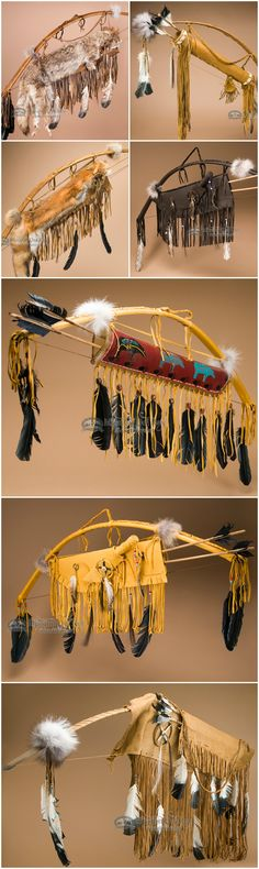 Native American bows and arrows are classic cultural icons that are perfect for rustic southwest style and western home decor. Any wall can be brightened and personalized with the addition of a Native American bow, quivers and Indian arrows. The bows and arrows are great as Indian art for wall hangings and look fabulous over a fireplace or in a family room.  See more at http://www.missiondelrey.com/native-american-bows-quivers/