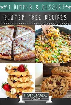 11 Dinner & Dessert Gluten Free Recipes | A Delicious Way To Enjoy Healthy Food by Homemade Recipes at http://homemaderecipes.com/11-gluten-free-recipes-dinner-dessert/