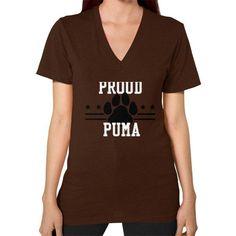 Proud Puma Shirt V-Neck (on woman)