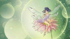 Sailor Saturn dressed as a fairy