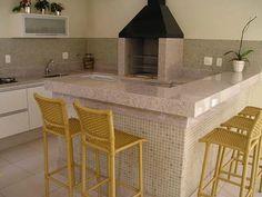 Imagem relacionada Open Kitchen, Home Decor Inspiration, Corner Bathtub, Kitchen Storage, My Dream Home, Kitchen Design, Sweet Home, Patio, Interior Design