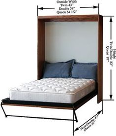 Murphy bed space measurements - most murphy beds will fit in any room that can fit a regular bed, and has a standard ceiling height.