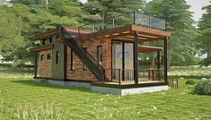Astounding Tips: Roofing Structure Outdoor Kitchens roofing diy wood.Roofing Materials Tiny Homes roofing top outdoor. Tyni House, House Roof, Container House Design, Tiny House Design, Prefab Homes, Tiny Homes, Fibreglass Roof, Casas Containers, Residential Roofing