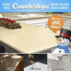 Are you ready for holiday guests? Refinish your countertops, vanities, tub and tile, or shower with Miracle Method and upgrade the look of your kitchen or bathroom in 2 days! Get a FREE estimate today!