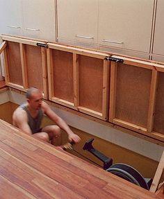 Design trends: home gyms   Sunken rowing machine https://www.uksportsoutdoors.com/product/maxofit-homestepper-greenline-mf-15-with-hand-grip/