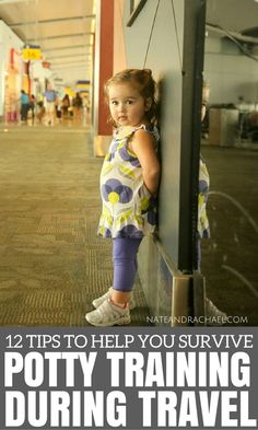 Traveling with a potty training toddler isn't exactly easy, but these 12 tips can help ease the stress of potty training during travel!