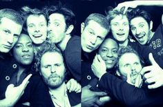 Tom Hopper, Adetomiwa Edun, Bradley James, Rupert Young and Eoin Macken as the Knights of the Round Table. Love them!