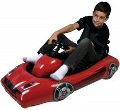 "Comfortable Seat; Strong & Durable; Safe For Children; Steering Wheel Houses 3Ds(Tm) Or Wii(R) Remote; Ideal For Motion Controlled Racing Games; Inflatable Material For Indoor Use; Supports Up To 230 Lbs; Dim: 45""""L X 28""""W; Compatible With Wii Motionplus(R)"" Sold Individually Please note: If there is a color/size/type option, the option closest to the image will be shipped (Or you may receive a random color/size/type)."