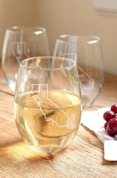 fun home state stemless glassware http://rstyle.me/n/wv4z5r9te