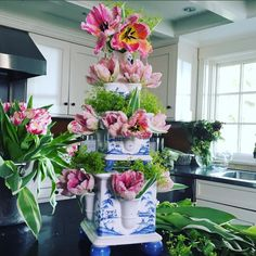 Happy First Day of Spring! Dust off your favorite vessel, scoop up some bunches of flowers at the market and get to work! #tulipiere #floralarranging #spring #juliskajoy #countryestate