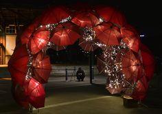 Sparkling Umbrellas Provide Perfect Little Escape in Sydney - My Modern Metropolis