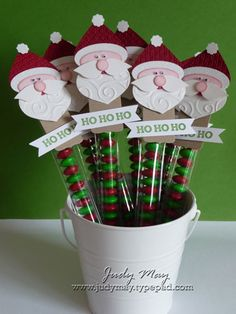 Santa_Toppers_Bucket I like how Judy's Santa's beard is the swirl folder. Have to remember that! Very cute!