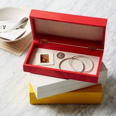 west elm slim lacquered box