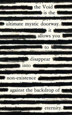 Blackout Poetry Example