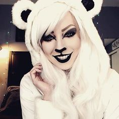 cute and simple panda bear makeup that's perfect for