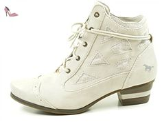 Mustang 1187-505 Bottine femme, schuhgröße_1:40 EU;Farbe:blanc - Chaussures mustang (*Partner-Link)