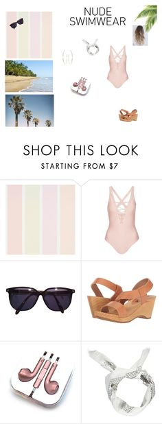 """""""Nude Swimwear"""" by fangirl-24 on Polyvore featuring Topshop, Sonia Rykiel, Free People, PhunkeeTree, Boohoo, Summer, contest, competition and swimsuit"""
