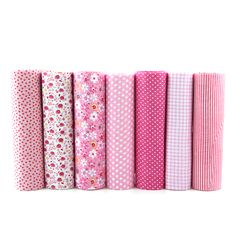 7pcs Pink Floral Patchwork Cotton Fabric Fat Quarter Bundles Sewing Textile Patchwork Fabric For Bags Baby Clothes 50x50cm J-7-1. Yesterday's price: US $12.20 (9.99 EUR). Today's price: US $5.61 (4.64 EUR). Discount: 54%.