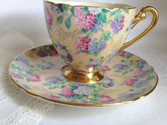Shelley Marguerite Chintz Teacup and Saucer