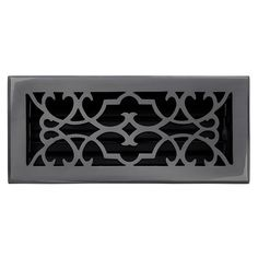 "This dark bronze finish solid brass floor register heat vent cover with a victorian scroll design fits 4"" x 10"" x 2"" duct openings and adds the perfect accent to your home decor."