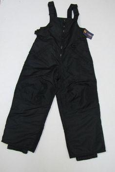 NWT Cherokee Snow Bibs Water Resistant Ski Pants Youth Child XS 4/5 #Cherokee
