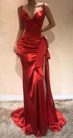Elegant Sweetheart Red Evening Dress Mermaid by PrettyLady on Zibbet